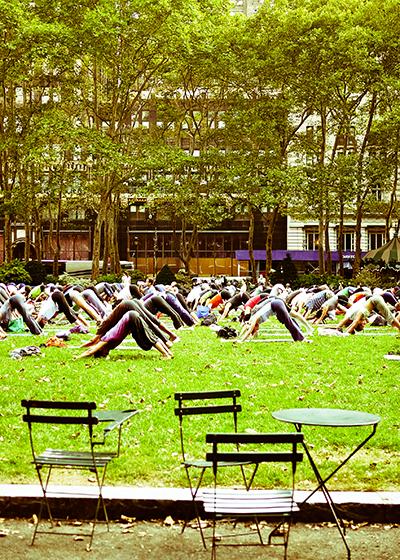 New York en solo seul Yoga à Bryant Park