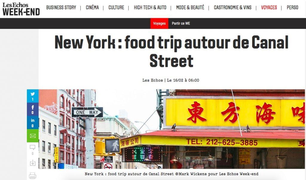 New York Off Road est cité dans les Echos