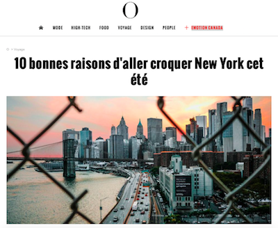 New York Off Road dans l'Obs