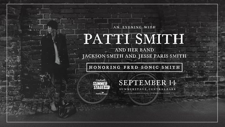Patti Smith SummerStage - Que faire à New York en septembre 2017 sur le blog New York Off Road