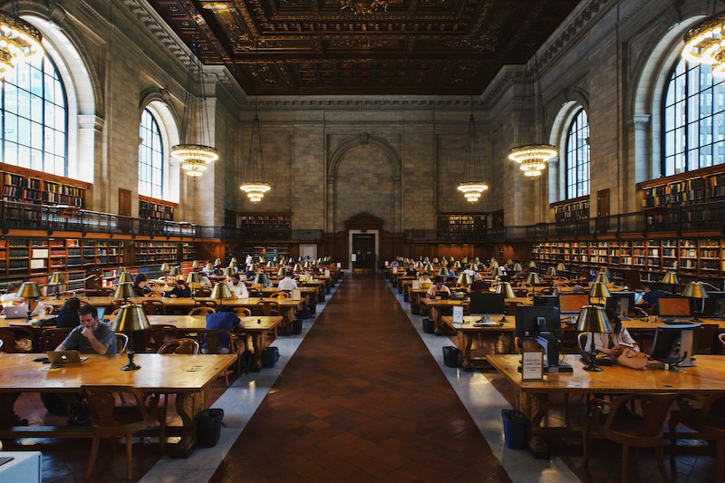 New York Public Library salle de lecture