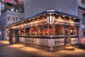 Devanture de l'Empire Diner Chelsea, diner typique des Etats Unis - Blog que faire à chelsea ? Visiter new york avec new york off road et retrouver toutes nos adresses